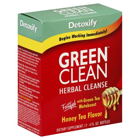 Detoxify Detox Clean Herbal Cleanse 5 Day Cleansing Program by Detoxify Green Clean Herbal Cleanse Concentrate 4 Fl Oz