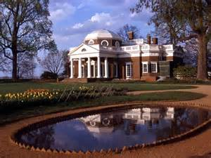 monticello s west front with fish pond thomas jefferson