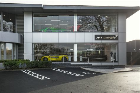 mclaren facility mclaren manchester opens its newly refurbished facility in