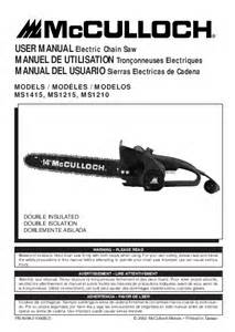 mcculloch chainsaw ms1415 user s guide manualsonline com