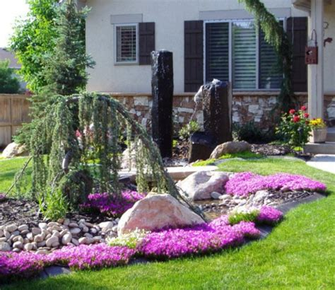 blumenbeet gestalten vorgarten gestalten 23 schicke rustikale gartenideen