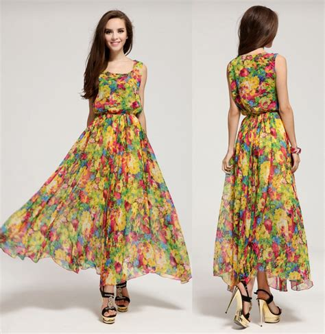 C C Californias New Summer Dresses by Summer Dress 2015 New Bohemian Big Swing Small Floral