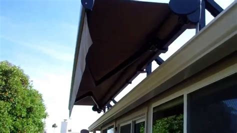 roof mounted awning roof mounted motorized retractable awning youtube