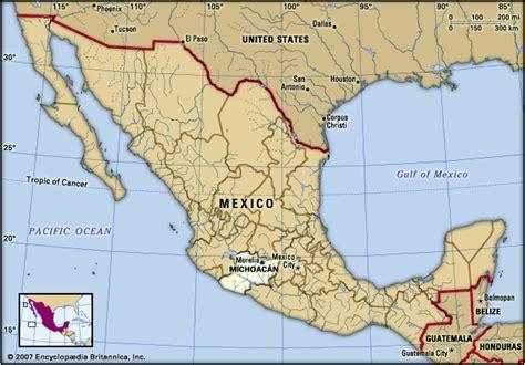 michoacan map michoacan encyclopedia children s homework help dictionary britannica