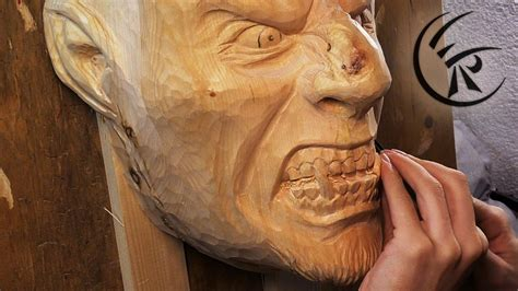 woodcarving wooden mask timelapse youtube