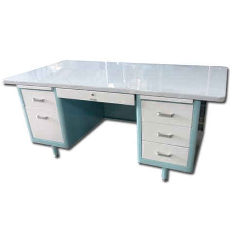 steel tanker desk for sale mcdowell craig 69 quot vintage steel tanker desk vintage
