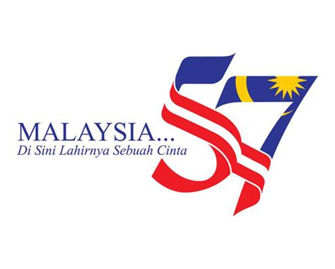 logo hari kebangsaan merdeka merdeka merdeka malaysia 57 years of
