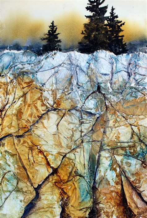 acrylic painting gesso using tissue paper gesso for rocky textures watercolor