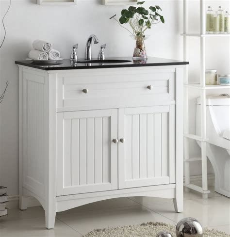 Coastal Bathroom Vanity 37 Inch Bathroom Vanity Coastal Casual Style Beadboard White Color 37 Quot Wx21 Quot Dx37 Quot H Ccf47531