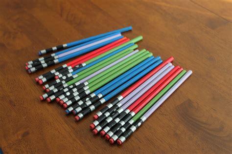 Light Saber Pencils wars light saber pencils keeping it simple crafts