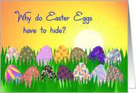 why do you hide eggs on easter easter cards from greeting card universe