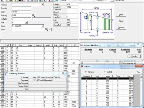 Rebar Estimating by Rebar Estimating Software