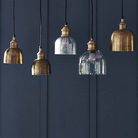 Brass Pendant Light Flori Brass Pendant Light By Rowen Wren Notonthehighstreet