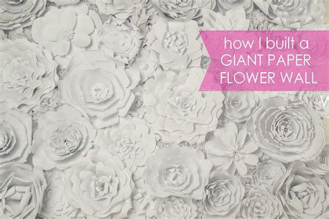 How To Make Paper Wall Flowers - paper flower backdrop posh tart