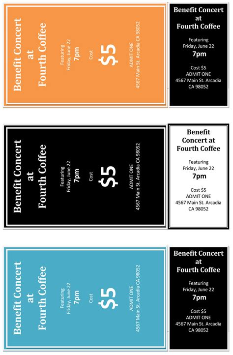 12 Free Event Ticket Templates For Word Make Your Own Tickets Ticket Template Word