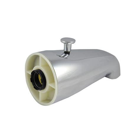 leaking bathtub spout universal tub spout w diverter in chrome danco