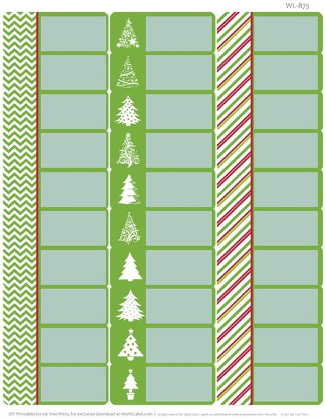 Carlton Holiday Address Labels Template