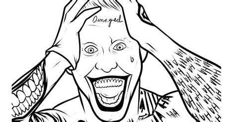 imagenes joker para dibujar pinto dibujos joker de suicide squat para colorear