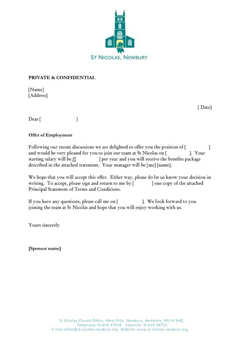 Business Letter Of Offer Template offer letter template business letter template