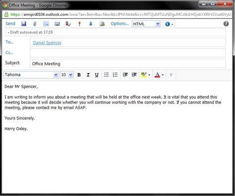 formal email format for university moved temporarily
