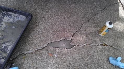 how to repair concrete patio concrete repair with pictures