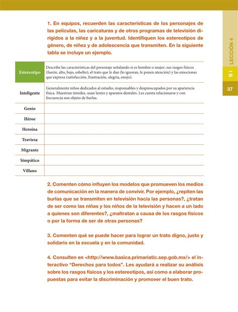 sexto formacin cvica y tica14 bloque 4 derechos y libro de formacion civica de 5 grado contestado formaci