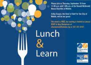 Lunch And Learn Template by Emerging Leaders Lunch And Learn United Way Of Southwest