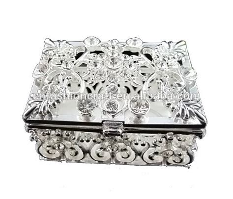 Wedding Jewelry Box Favors by Wedding Favors Guest Gift Box White Metal