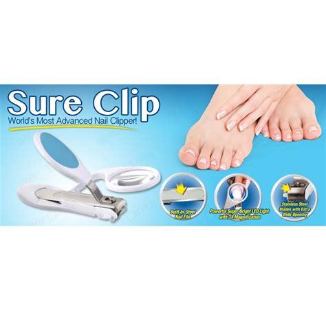 6 Nail Perhiasan Kuku Nail sure clip magnifier nail clippers gunting kuku blue