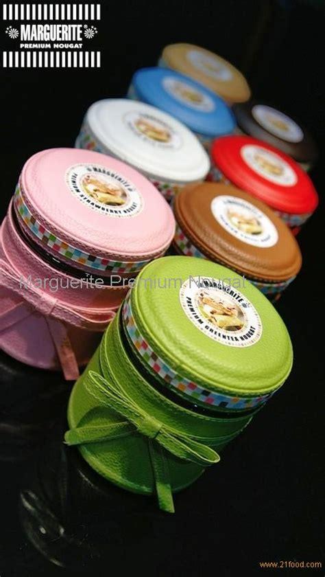 Marguerite Chocolate Nougat nougat in beautiful leather jar products indonesia nougat