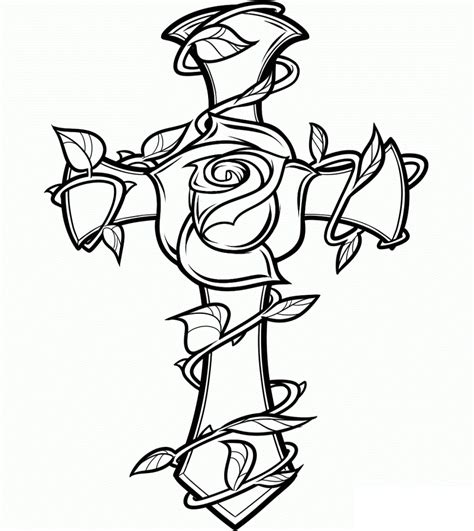 printable  cross coloring pages  celtic cross