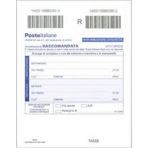 ufficio postale raccomandata modulo postali mod 22 r pz 100 accettazione raccomandata