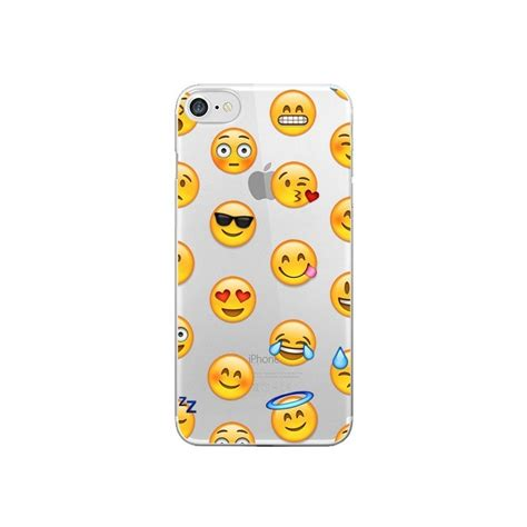 Smile Emoji 7 coque smiley emoticone emoji transparente pour iphone 7 et