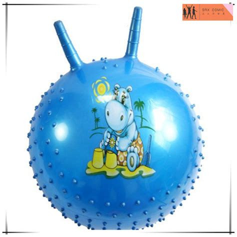 bouncy with handle plastic knobby bouncy with handle hop custom pvc