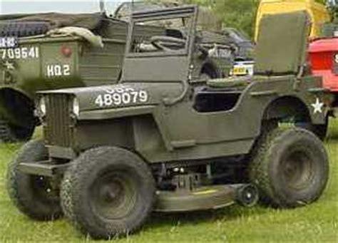 lawn mower jeep m38a1 mini mb project
