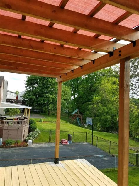 Building A Pergola On A Patio by How To Build A Pergola On An Existing Deck That Will Stay