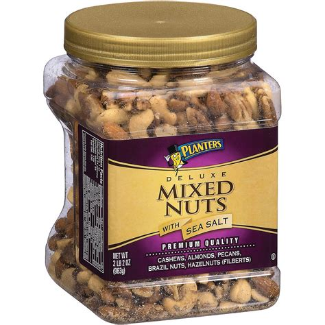 Planters Deluxe Mixed Nuts planters deluxe mixed nuts with sea salt 34 oz ebay