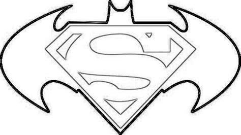 batman superman symbol outline clipartsgram com