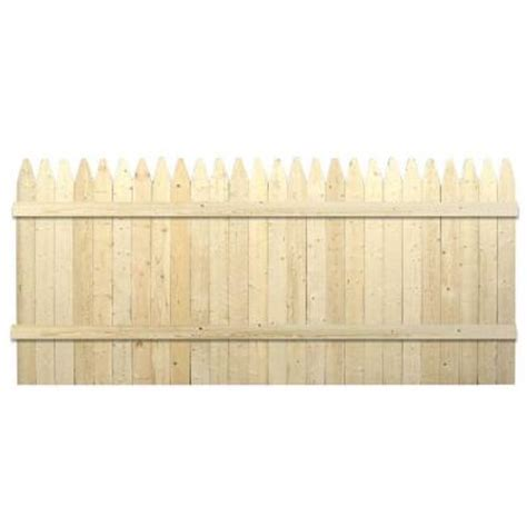 picket fence sections home depot 42 in x 8 ft 1 natural spf 4 in gothic stockade fence