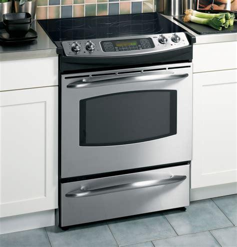 slide in range ge profile 30 quot slide in electric range js968skss ge appliances