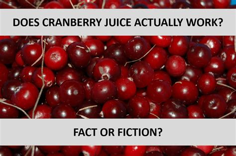 Do Cranberry Pills Help Detox by Cranberry Juice Detox Test
