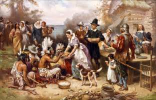 thanksgiving with the pilgrims thanksgiving and pilgrim paintings and artwork