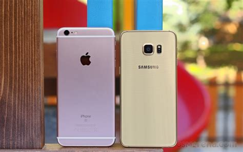 apple iphone 6s plus vs samsung galaxy s6 edge positive gsmarena tests