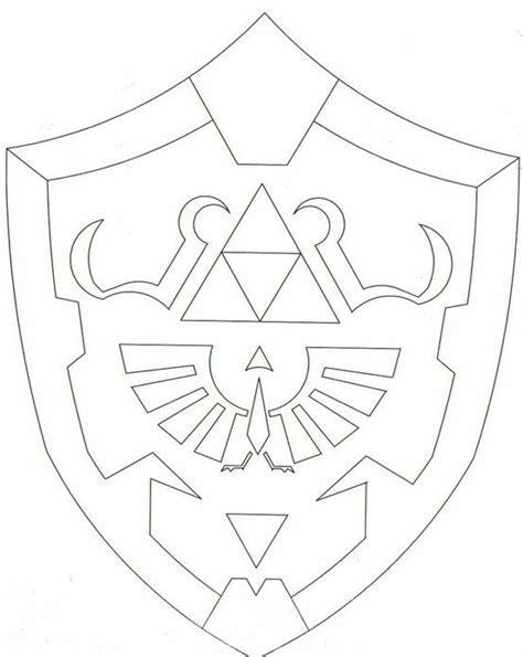 zelda shield template hylian shield simple dark link