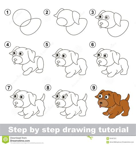 sketch to vector tutorial drawing a puppy step by step drawing sketch picture
