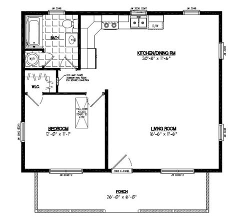 Cabin Floor Plan by 24x30 Floor Plan 24x30 Musketeer Certified Floor Plan