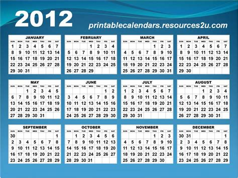 Calendar Of 2012 Calendar 2012 Calendar Template 2012 New All Photo