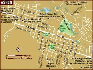map aspen colorado map of aspen