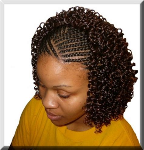 hair style with wave and braids for black teen with big foreheads braided mohawk hairstyles for black girls