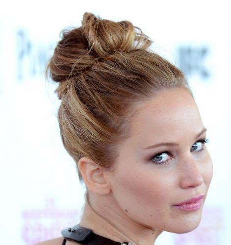 prom hairstyle for oval shape face 22 jennifer lawrence updo hairstyles you will love messy